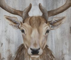 Deer Painting Acrylic Painting Original Art The by SnowtreeGallery Grand Prince, Art Original, Original Paintings, Decoration, Les Oeuvres, Deer, Hardwood, Moose Art, The Originals