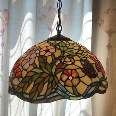 Stained Glass Lamp Shades, Glass Light Shades, Stained Glass Light, Stained Glass Patterns, Pendant Lamp, Pendant Lighting, Tiffany Pendant Light, Diy Bracelets Easy, Glass Butterfly