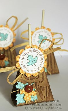 Fall Lollipop Holder : Scrapping Mommy by mommy2darlings, via Flickr