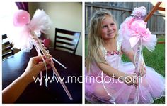 How to make a fairy wand -- cute ribbon, clear ornament to fill with magical stuff, crystal beads and ribbons with jingle bells