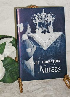 Vintage 40s Catholic Booklet Night Adoration for Nurses by PaxDei