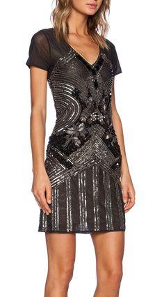pretty black beaded dress