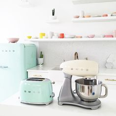 Smeg everything! Smeg is my favourite kitchen brand!!! It's just so accessable and stylish also the colours match with everything I have!!!