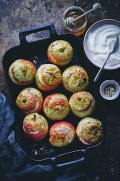 Baked Apples with Spiced Oatmeal   Green Kitchen Stories