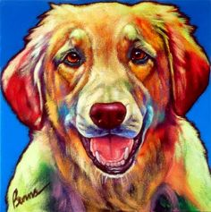 "Ron Burns, ""Cotton"","" ""12"" x 12""  #dog #painting"