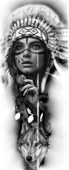 Indian Women Tattoo, Indian Girl Tattoos, Indian Tattoo Design, Native American Tattoos, Native American Girls, Native American Images, Chicano Tattoos, Body Art Tattoos, Crocodile Tattoo