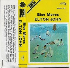 Elton John ‎- Blue Moves Cassette Tape South Africa Edition EJD-C 1/2 Elton John Blue Moves, Elton John Live, Cassette Tape, Greatest Hits, South Africa, Words, Music, Ebay, Musica