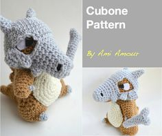 Cubone amigurumi pattern Pokemon crochet Paid pattern