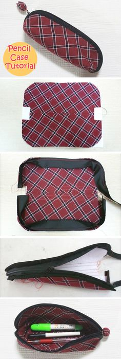 Zippered Pencil Bag DIY Photo Tutorial. http://www.handmadiya.com/2016/05/zipper-pencil-case-tutorial.html