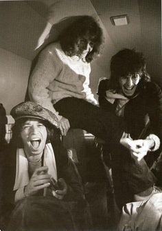 Mick Jagger, Mick Taylor, Keith Richards.
