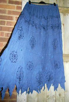 Hippy Ethnic Ethical Hippie Gypsy New Fair Trade Cotton Skirt 24 26 28 30 32