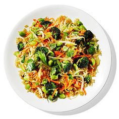 Our fried brown rice recipe calls for all the Asian flavors and colorful vegetables you love minus all of the extra grease.
