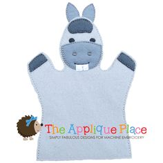 This is a machine embroidery applique design. It is an in-the-hoop puppet design. You will receive 3 sizes. An adult size, a child size and a finger puppet. The finger puppet has some filled stitch areas, the larger two are mostly applique.  This design will come with a PDF instruction sheet to help you sew it out.  It will come in 3 sizes:  Finger Puppet (4x4 hoop)Child Hand Puppet (5x7 hoop)Adult Hand Puppet (6x10 hoop)  in the following formats:  DST, EXP,