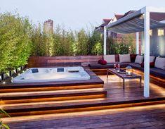 Hot Tub Backyard, Backyard Patio, Backyard Landscaping, Landscaping Ideas, Pergola Ideas, Backyard Ideas, Hot Tub Garden, Pergola Patio, Pergola Kits