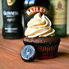 Irish Car Bomb Cupcakes. YUM!