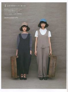 Simple Wardrobe! <3 Japanese Sewing Pattern Book for Women Clothing - Easy Sewing Tutorial - Pullover, Pants, Dress,Bag.