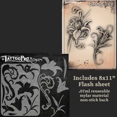 Product Info Create realistic rockstar tattoos and sleeves with Airbrush Tattoo Pro stencils by Wiser. The Airbrush Tattoo Pro stencil system will take your temporary tattoo game to the next level! Un