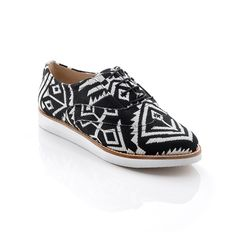 Black and White Oxford Shoes