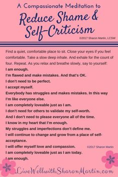 Healing Shame and Self-Criticism. Self Development Positive Thinking Affirmations. If you don't know where to start with Personal Development, here are various beginner guides to get you started. Coaching, Self Care Activities, Mindfulness Meditation, Deep Meditation, Daily Meditation, Chakra Meditation, Meditation Music, Loving Kindness Meditation, Meditation For Beginners