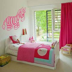 "Cute Zebra Nursery Vinyl Wall Sticker Decal  22""h x 25""w on Etsy, $26.12 CAD"