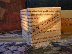Harry Potter Book Page Tea Light or Votive by monjardindepapier, $12.00