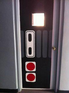NES controller door for a games-room