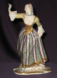 Porzellan, Porzellan-Figuren, Nymphenburg-Bustelli Commedia Dell`Arte,
