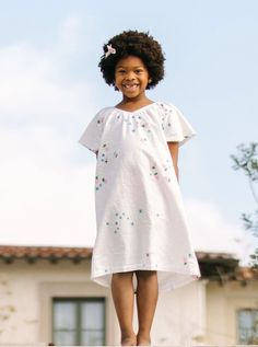 Made of breathable 100% cotton, our cozy nightdresses go through a special three-wash process to give them the softest, dreamiest feel. The partial elastic neckline allows the gown to slip over your child's head with ease. For sleeping or playing, dancing or dreaming, these gowns are perfect for day and night. Real Moms, Slip Over, Anakin Skywalker, Effortless Chic, Gowns, Clone Wars, Flutter Sleeve, Night Gown, Starwars