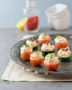 Little Red and Green Appetizers - Potato Goodness