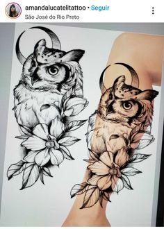 Leg Tattoos Women, Side Tattoos, Body Art Tattoos, Sleeve Tattoos, Tatoos, Tattoo Outline Drawing, Owl Tattoo Drawings, Black Bird Tattoo, Black Tattoos