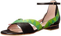 Moschino Cheap and Chic Women's Snake Dress Sandal, Black, 37.5 EU/7.5 M US.