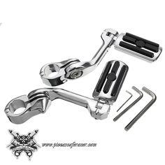 Juego de Estriberas Reposapiés Ajustables 1.25inch/32mm Largas Para Harley-Davidson -- 97,29€