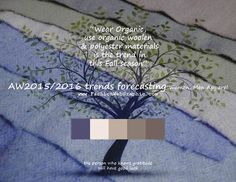 AW2015/2016 trends forecasting for Women, Men Apparel - Wear Organic, use organic woolen & polyester materials is the trend in this Fall...