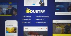 Download and review of Industry - Business, Factory, Construction, Transport & Finance WordPress Theme, one of the best Themeforest Corporative themes