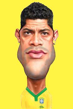 HULK – Caricaturas para o pôster da Seleção Brasileira