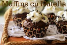Muffins cu Nutella - Retete culinare by Teo's Kitchen Loaf Cake, Lidl, Nutella, Muffins, Deserts, Cupcakes, Dishes, Eat, Kitchen