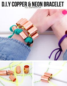 Tutorial: Copper & Neon Bracelet - Click the image for the Tutorial