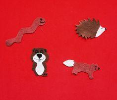 Flannelboard activity hiding hedgehog more