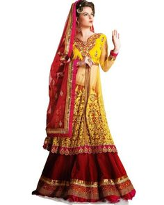 Clothes which make you look fabulous. Look gorgeous on that special day with #Lehenga collection on Ethnic Station. Shop now @ http://www.ethnicstation.com/women/lehenga-1/red-lace-work-lehenga-PF1606