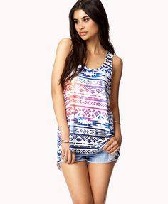 Celestial Tribal Print Tank, really cute prints. I need to get a guys tank with tribal.
