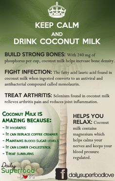 Keep Calm And Drink Coconut Milk