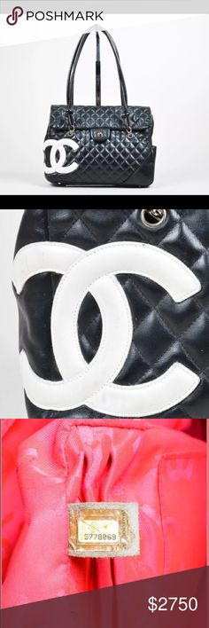 Authentic Chanel large black quilted bag Excellent condition, silver hardware, beautiful while CC ... love the timeless elegance CHANEL Bags Shoulder Bags