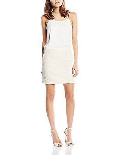10, Gold, Color Block Women's 6124205 Sleeveless Dress NEW