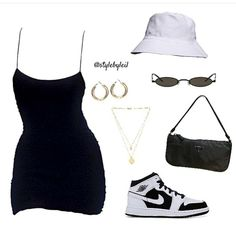 Baddie Outfits Casual, Cute Swag Outfits, Cute Comfy Outfits, Stylish Outfits, Teen Fashion Outfits, Mode Outfits, Retro Outfits, Inspiration Mode, Polyvore Outfits