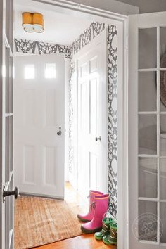 eclectic entry by Kate Maloney Interior Design