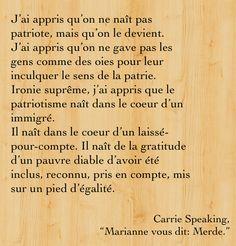 """Citation de """"Marianne vous dit : Merde."""""""
