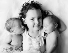 Older child with twin siblings