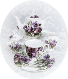 Spring tea party- love this tea set
