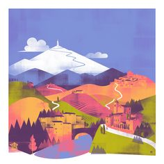 """Mont Ventoux by Liam McCrory. Stage 12 of this year's Tour de France will have a mountain top finish on the """"Giant of Provence."""""""