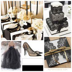 Paperi & Co. | Black Wedding Theme <3<3 ADD DIY www.customweddingprintables.com